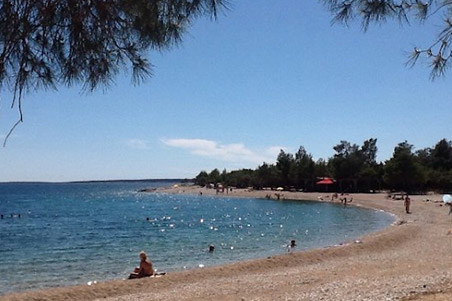 The island of Pag - Beach view